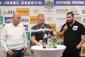 Pressekonferenz HSV Insel Usedom – LHC Cottbus 32:31